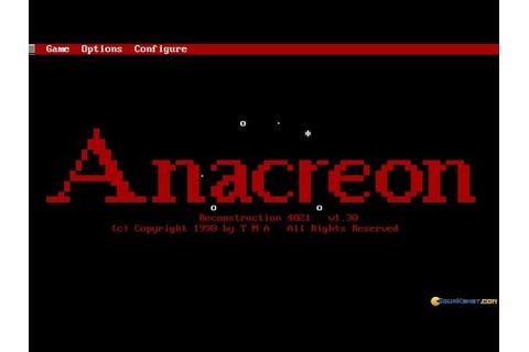 Anacreon: Reconstruction 4021 gameplay (PC Game, 1987 ...