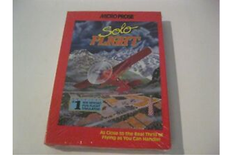 "Solo Flight new sealed PC game 5.25"" disk Micro prose 