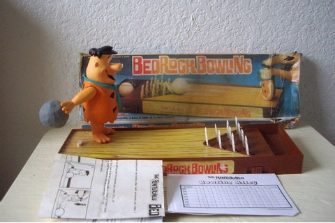 Flintstones Bedrock Bowling Alley Game by Arco 1982. Sold by