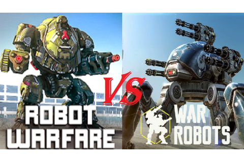 Robot Warfare Vs War Robots (Game Review) - YouTube