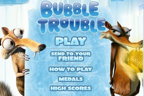 Ice Age Bubble Trouble Game - Bubble Shooter games - Games ...