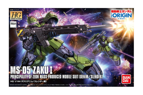 1/144 HG Zaku I (Denim / Slender) by Bandai | HobbyLink Japan