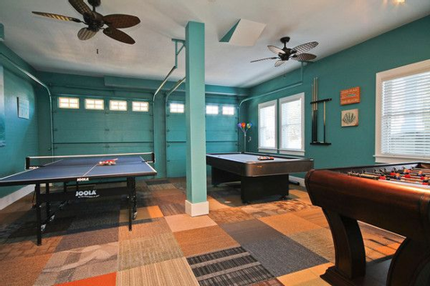 Garage converted to recreation game room | cool houses ...