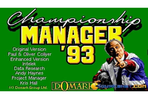 Championship Manager 1993 gameplay (PC Game, 1993) - YouTube
