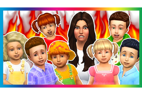The Sims 4 - SEVEN TODDLER CHALLENGE!! (Sims 4, Episode 3 ...