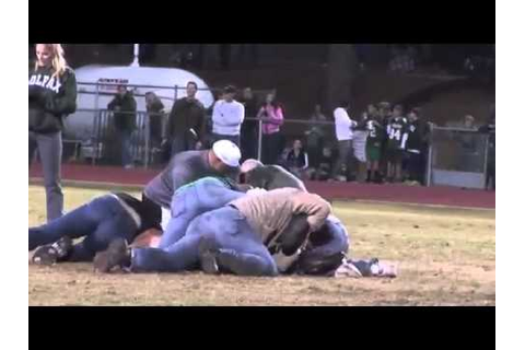Drunk Student Tackled By Dad at High School Football Game ...