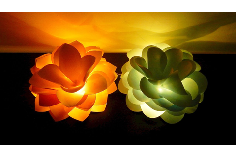 Giant flower lights DIY - how to make and light up giant ...