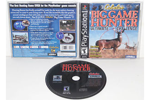 CABELA'S BIG GAME HUNTER ULTIMATE CHALLENGE (2001) SONY ...