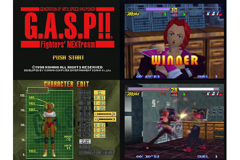 GASP Fighters Nextream from Konami - Nintendo 64