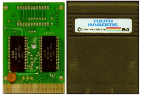 Commodore Info Page - Steckmodul: Tooth Invaders [de]