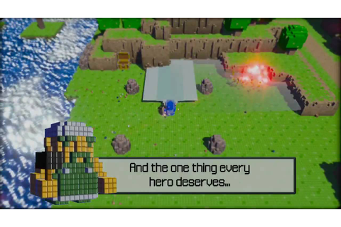 "3D Dot Game Heroes: ""Natural Sword Enhancement"" Vignette ..."