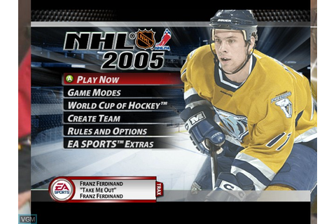 NHL 2005 for Microsoft Xbox - The Video Games Museum