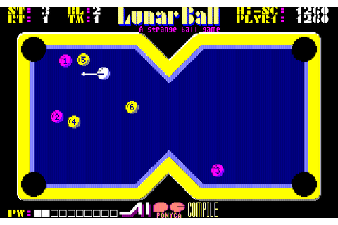 Download Lunar Pool (PC-88) - My Abandonware
