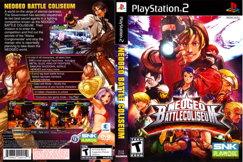 Neo Geo Battle Coliseum Playstation 2 Cover. | Videogames ...