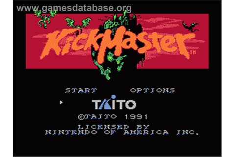 Kick Master - Nintendo NES - Games Database