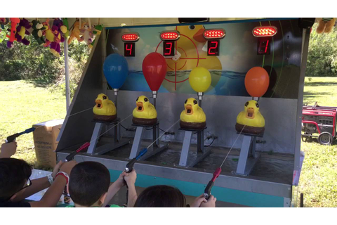 Water race - Carnival Game - YouTube