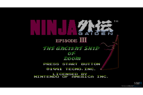 Ninja Gaiden III: The Ancient Ship of Doom - Game ...