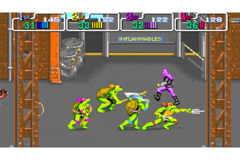 Gameflix: Teenage Mutant Ninja Turtles 89 4 Player (Arcade ...