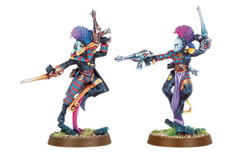 pair of eldar harlequins | jesters and harlequins 2 ...