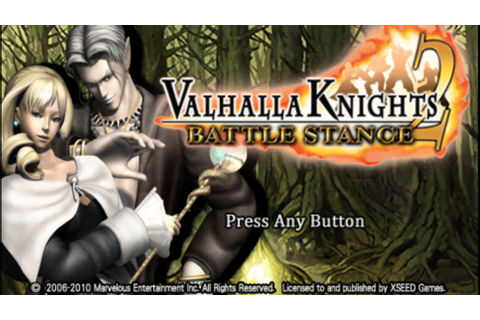Valhalla Knights 2 Battle Stance (USA) PSP ISO Free ...