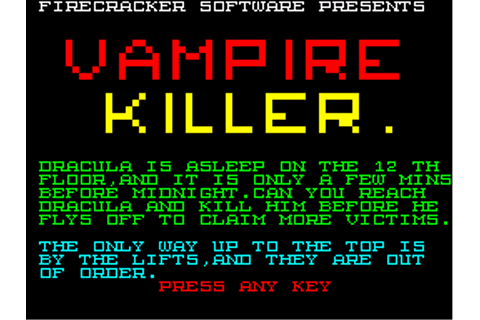 Download Vampire Killer - My Abandonware