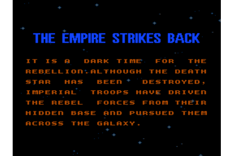 Star Wars: The Empire Strikes Back Screenshots | GameFabrique