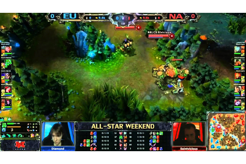 2013 ALL-STAR League of Legends NA vs EU game 1 - YouTube