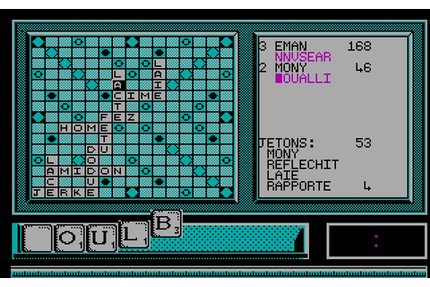Download The computer edition of Scrabble strategy for DOS ...