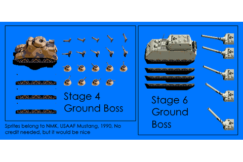 Arcade - USAAF Mustang - Ground Bosses - The Spriters Resource