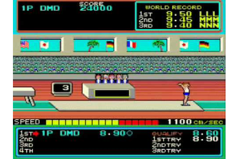 MAME:HYPER SPORTS PLAYTHROUGH:VAULTING HORSE - YouTube