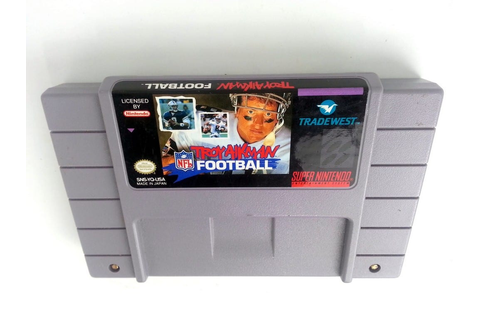 Troy Aikman NFL Football game for Super Nintendo (Loose ...