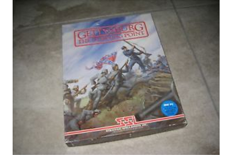 Vintage SSI GETTYSBURG The Turning Point IBM PC 1986 5 1/4 ...