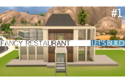 The Sims 4 Dine Out - Let's Build a Fancy Restaurant #1 ...