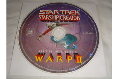 Star Trek Starship Creator : Warp II - PC CD Computer game ...