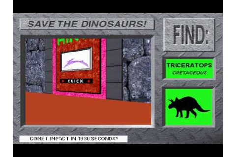 Save The Dinosaurs! From 3-D Dinosaur Adventure MS-DOS ...