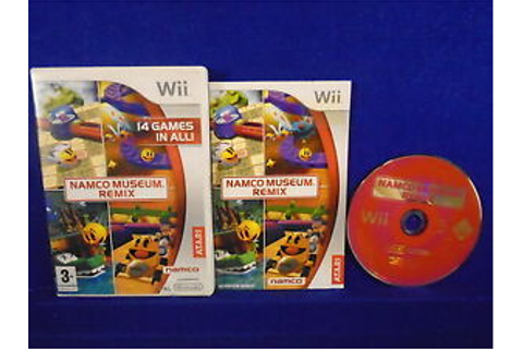Wii NAMCO MUSEUM REMIX 14 Classic Arcade Games MINT DISC ...