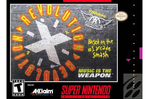 Revolution X Aerosmith SNES Super Nintendo
