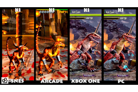 Killer Instinct RIPTOR Graphic Evolution 1994-2016 | SNES ...