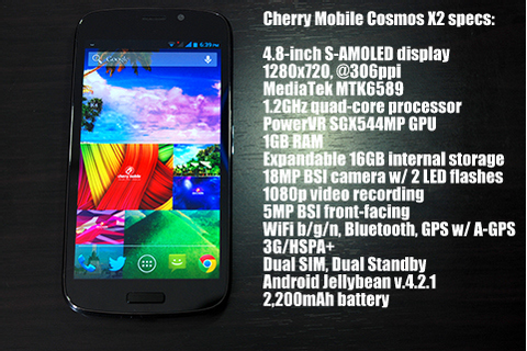 Cherry Mobile Cosmos X2 review - YugaTech | Philippines ...