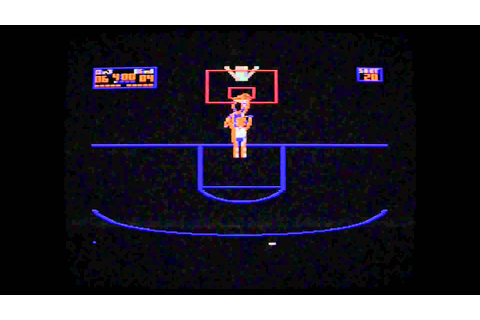 Commodore 64- Playing one on one- Dr.J VS Larry Bird - YouTube