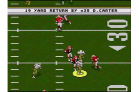NFL Football 94 Starring Joe Montana- Sega Genesis Intro ...