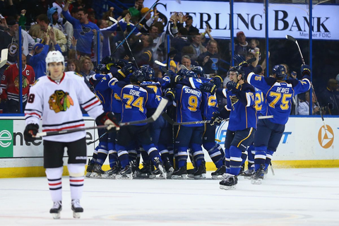 Recap: Blues Rally to Defeat Hawks in Game 2 - St. Louis ...