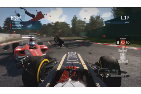 F1 2013 Game - MASSIVE CRASH! - YouTube