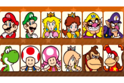 Mario Party Star Rush - All Characters - YouTube