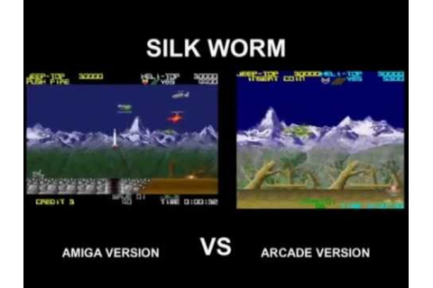 SilkWorm Amiga VS Arcade version - YouTube