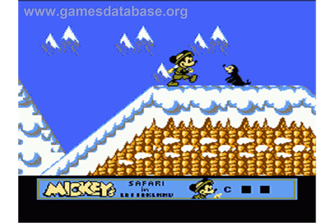 Mickey's Safari In Letterland - Nintendo NES - Games Database