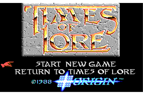 The CRPG Addict: Game 62: Times of Lore (1988)
