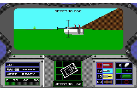 Abrams Battle Tank vehicle simulation for DOS (1989 ...