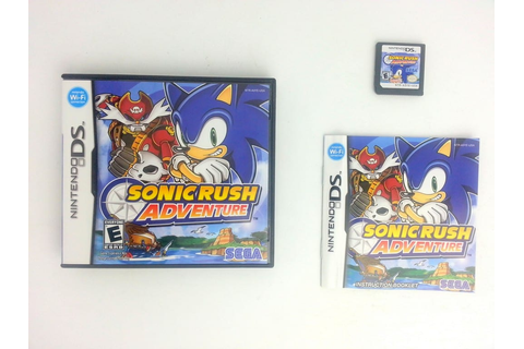 Sonic Rush Adventure game for Nintendo DS (Complete) | The ...