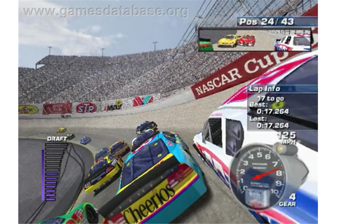 In game image of NASCAR: Dirt to Daytona on the Sony Playstation 2.